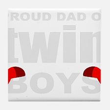 Twins dad Tile Coaster