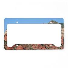 Rocks near Sedona, Arizona 3 License Plate Holder