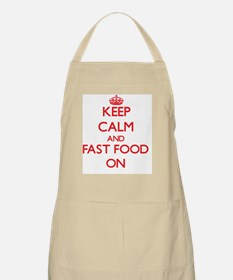Keep calm and Fast Food ON Apron