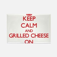 Keep calm and Grilled Cheese ON Magnets