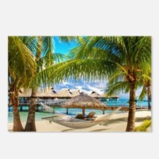 Bungalow And Hammock On Exotic Beach Postcards (Pa