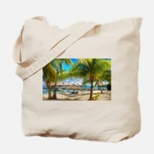 Bungalow And Hammock On Exotic Beach Tote Bag