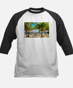 Bungalow And Hammock On Exotic Beach Baseball Jers