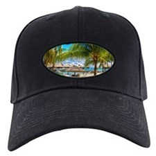 Bungalow And Hammock On Exotic Beach Baseball Hat