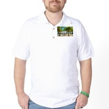 Bungalow And Hammock On Exotic Beach T-Shirt