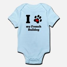 I Heart My French Bulldog Body Suit
