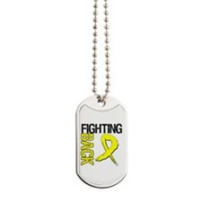 Endometriosis Fighting Back Dog Tags