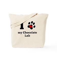 I Heart My Chocolate Lab Tote Bag