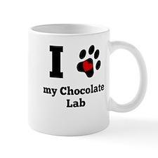 I Heart My Chocolate Lab Mugs