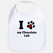 I Heart My Chocolate Lab Bib