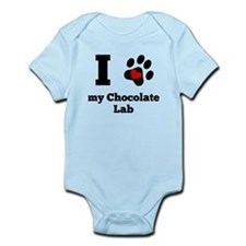 I Heart My Chocolate Lab Body Suit