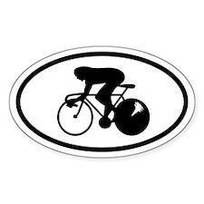 Bike Racer Oval Decal