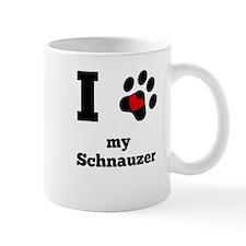 I Heart My Schnauzer Mugs