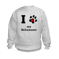 I Heart My Schnauzer Sweatshirt