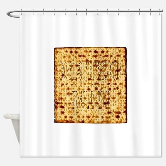 Matza Passover holiday Jewish Tradi Shower Curtain