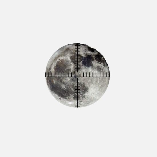 moon on target night cosmic landscape Mini Button