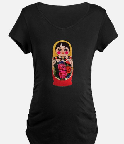 Matryoshka Russian Traditional d Maternity T-Shirt