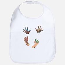 Artsy Baby Hands and Feet Bib