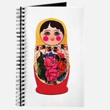 Matryoshka Russian Traditional doll Babush Journal