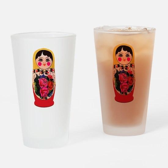 Matryoshka Russian Traditional doll Drinking Glass