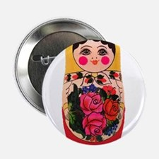"Matryoshka Russian Traditional doll B 2.25"" Button"