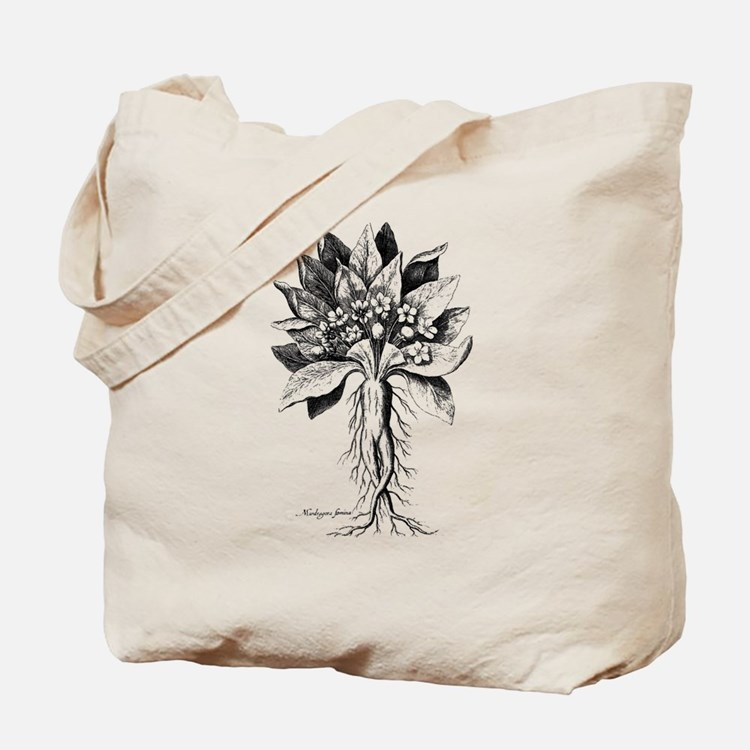 Mandragora autumn mandrake Psychedelic to Tote Bag