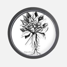 Mandragora autumn mandrake Psychedelic Wall Clock
