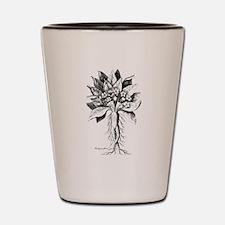 Mandragora autumn mandrake Psychedelic Shot Glass