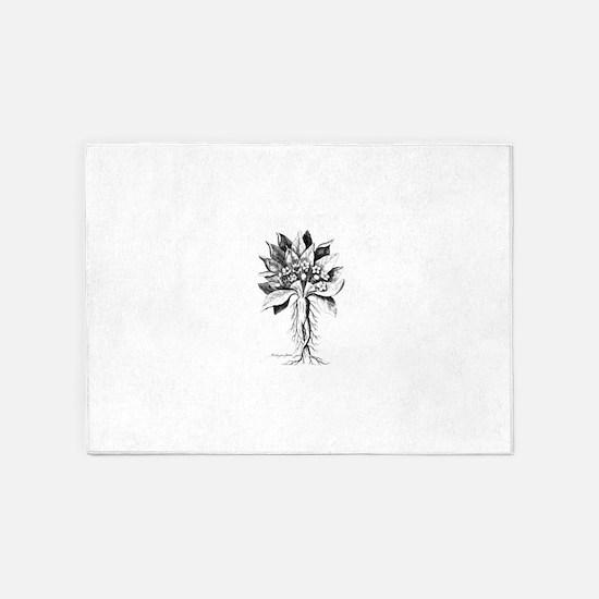 Mandragora autumn mandrake Psychede 5'x7'Area Rug