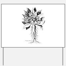 Mandragora autumn mandrake Psychedelic t Yard Sign