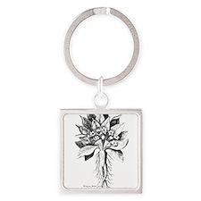 Mandragora autumn mandrake Psychedelic t Keychains