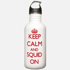 Keep calm and Squid ON Water Bottle