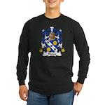 Rioux Family Crest Long Sleeve Dark T-Shirt