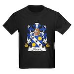 Rioux Family Crest  Kids Dark T-Shirt