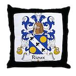 Rioux Family Crest  Throw Pillow