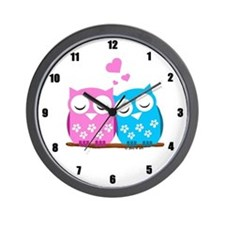 Cute Owls Wall Clock