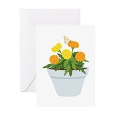 Marigold Butterfly Greeting Cards