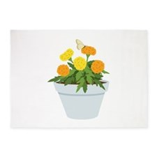 Marigold Butterfly 5'x7'Area Rug