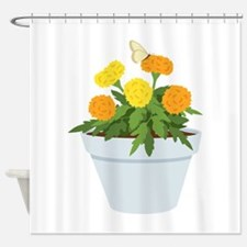 Marigold Butterfly Shower Curtain