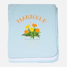 Marigold baby blanket