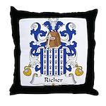 Richer Family Crest Throw Pillow