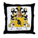Revel Family Crest Throw Pillow