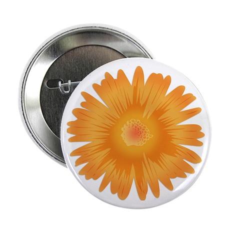Just A Flower Gold Button