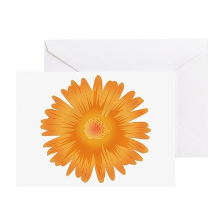 Just A Flower Gold Greeting Cards (Pk of 20)