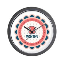 Two Months Milestone Patch Wall Clock