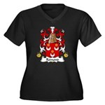 Remond Family Crest Women's Plus Size V-Neck Dark
