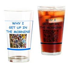 philately humor Drinking Glass