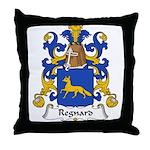 Regnard Family Crest Throw Pillow