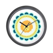 Baby Lion Patch Wall Clock
