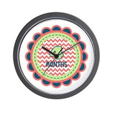 Four Months Milestone Patch Wall Clock